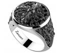 ZANCAN Gotik Silver Ring EXA148